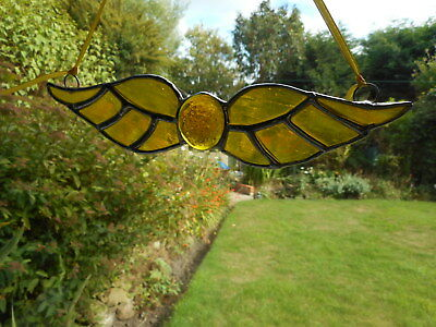 Stained Glass Harry Potter Golden Snitch Suncatcher Or Wall Mount.  • 18£