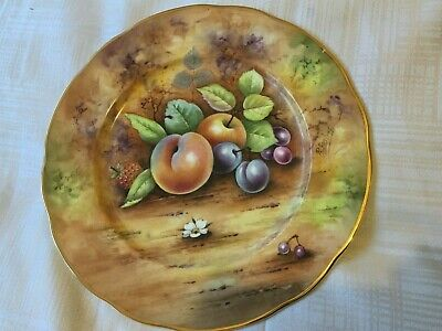 Hand Painted Bone China Plate By Worcester Artist Peter Gosling • 90£