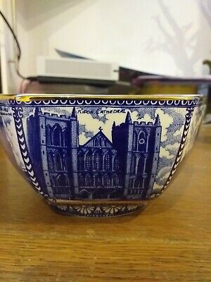 Ringtons Blue And White Castle / Cathedral Design Bowl 8.5cm H Diameter By Wade • 11.99£