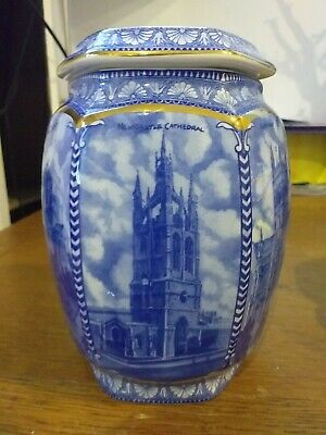 Ringtons Wade Blue And White Cathedral Design Biscuit Jar 19cm H Millenium 2000  • 11.99£
