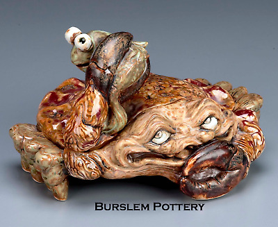 Burslem Pottery Grotesque Claude The Crab Stoneware Inspired By Martin Brothers • 169£