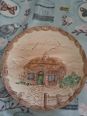 Crown Winsor Croft Cottage Ware Hand Painted 8  Collectors Plate  • 5£