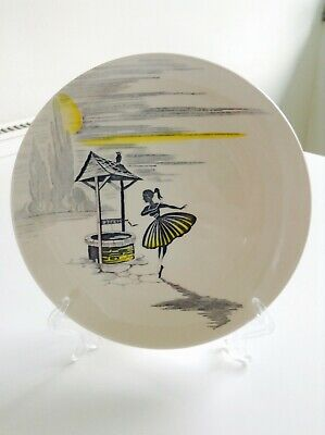 J & G Meakin 'Wishing Well' 7  Tea Plates In Excellent Condition And A Rare Find • 7£