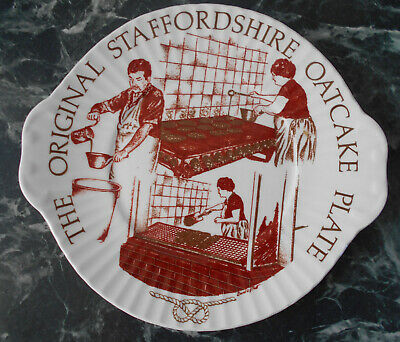 The Original Staffordshire Oatcake Plate Mayfair Pottery • 29£