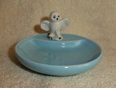 Vintage Wade Whimtray's Snowy Owl, Sky Blue Base • 8.50£