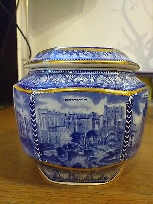 Ringtons Blue And White Castle Design Tea Caddy Millenium 2000 By Wade • 11.99£