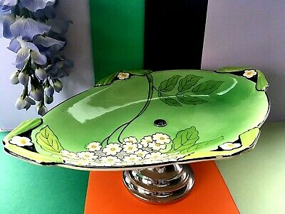 Vintage 1940's Burgess & Leigh Burleigh Ware Pedestal Cake Plate & Conical Stand • 39.99£