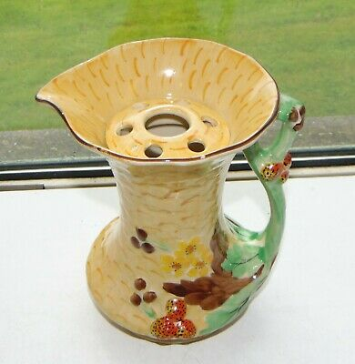 James Kent English Pottery Flower Jug With Rose Hand Painted C1950s • 15£