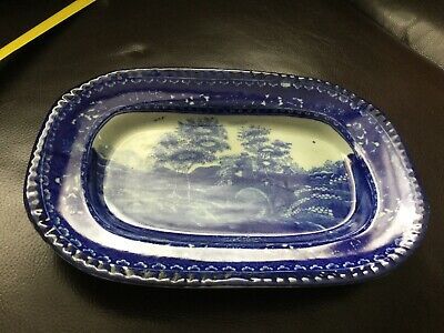 Victoria Ware Flow Blue Ironstone Small Serving Dish • 14.99£