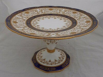 Antique Cauldon Cake Stand Brown Westhead Moore Raised Paste Gold  • 74.99£