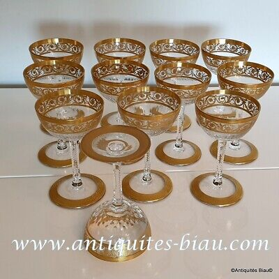Cocktail Glass In Crystal Saint - Louis - Thistle Gold In Perfect Condition • 130.78£
