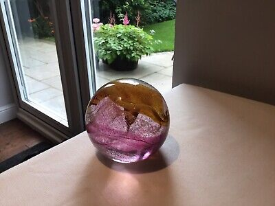 Lovely Quality Caithness Art Glass Paperweight Stamped Chg On Base • 12£