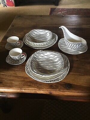 Midwinter Zambesi Stylecraft C1956 Jessie Tait Collection Plates Cups Gravy • 55£