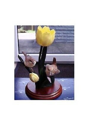 Border Fine Arts Garden Guests, Wrens & Tulips A1022 New, Boxed • 28.99£