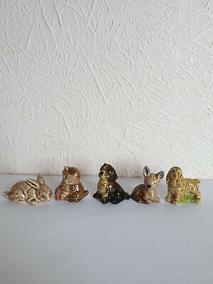 COMPLETE SET Of 5 Vintage Wade WHIMSIES -  Set 1 1971 - EX CON  • 4.99£