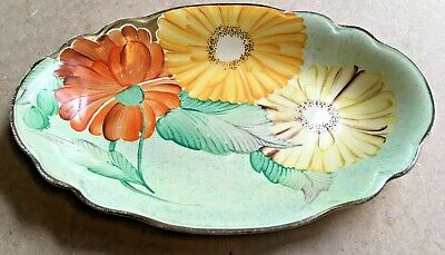 Vintage Gray's Pottery ~ Oval Dish ~ Oval Hand-Painted Art Deco 1930's  • 14.99£