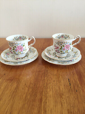 Vintage Royal Standard Mandarin China Teacups Saucer And Plate X2 Excellent Cond • 20£
