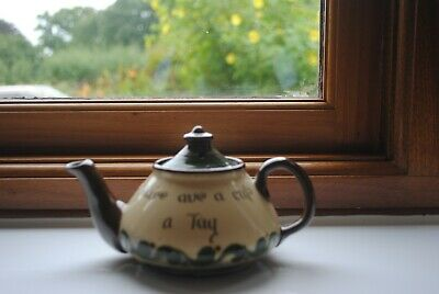 Torquay Ware - Watcombe Teapot Duee Ave A Cup A Tay • 14£
