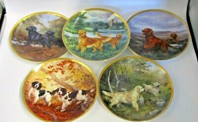 The Franklin Mint Royal Doulton Dogs Plate Collection X5 By Elizabeth Halstead • 49.99£