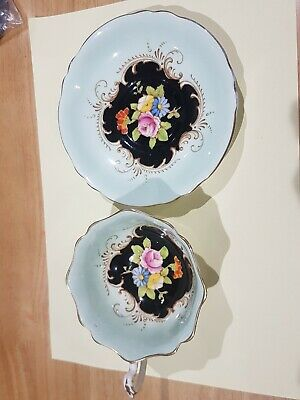 Hand Painted Enamel Paragon Cup And Saucer  • 8£