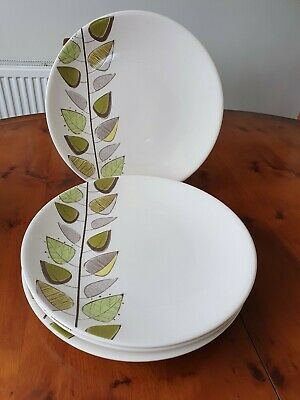 4  Price & Kensington'tranquility Green'  Tea, Large Dinner Plates • 29.50£