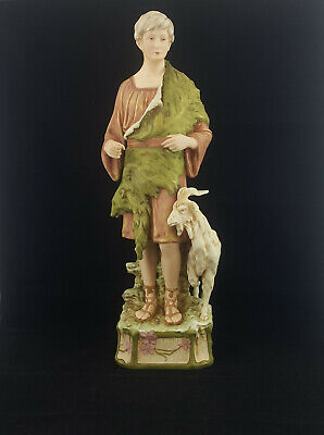 Royal Dux Figurine In The Form Of A Goat Herder & Goat - Large • 500£