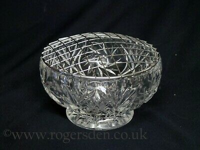 Crystal Glass  Rose Bowl • 17.99£