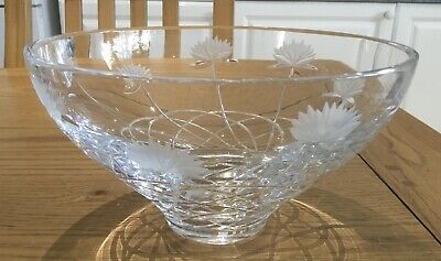 Stunning Large/heavy Cut Glass Fruit Bowl In  Superb Condition • 12.95£