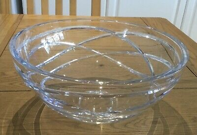 Stunning Large/heavy Cut Glass Fruit Bowl In  Superb Condition • 9.95£