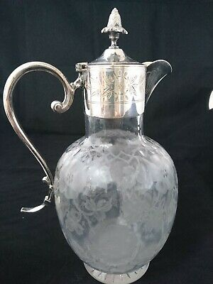 Claret Jug Early 19th Century Silver Plated Mounts And Handle • 80£