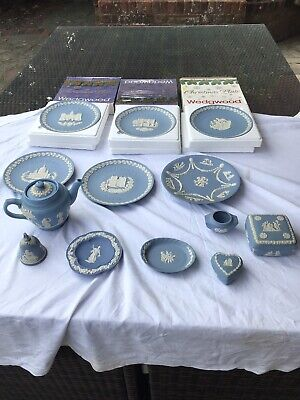 Joblot Of Wedgewood Blue And White Jasperware + Dudson Ware Teapot • 19.95£