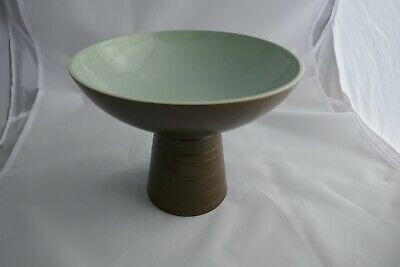 Lovely 1960s Vintage Art Studio Tazza In Olive And Sage  • 12£