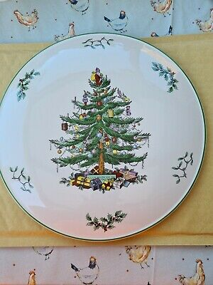 Spode Xmas Tree/Cookie Plate 10  New With Box • 8.50£