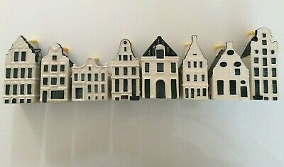 X8 Delft KLM Blue Houses Collection Pottery Dutch Holland Blos Amsterdam Sealed • 51£