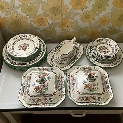 Set Of Copeland Spode Chinese Rose Dinner Service • 3£