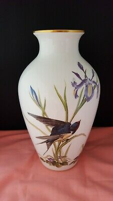 Large 1980 Limited Edition Franklin Mint Meadowland Bird Vase By Basil Ede  • 30£