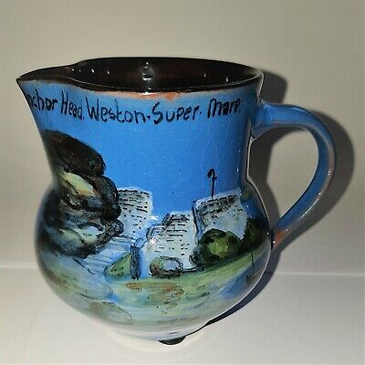 Anchor Head Wesuma T W Lemon & Son Weston S Mare Art Pottery Cream Milk Jug  • 29.99£