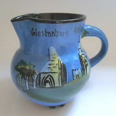 Glastonbury Abbey Wesuma T W Lemon & Son Weston S Mare Art Pottery Cream Jug • 27.49£