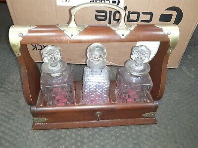 Antique Decanter Set With Carry Case • 21£
