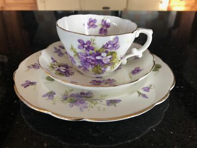 Hammersley Fine Bone China Trio  - Cup, Saucer And Side Plate - Victorian Violet • 18.50£