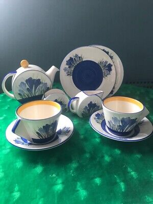 Wedgewood Clarice Cliff Collection- Bizzare  Bonjour  Teaset For 2 • 63£