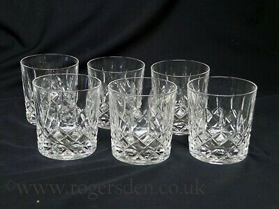 Crystal Glass  A Set Of 6 Whisky Tumblers • 24.99£