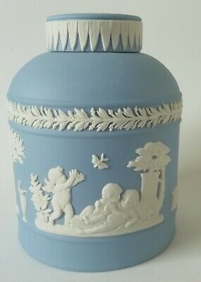 Wedgwood Blue Jasperware Tea Cannister / Tea Caddy • 160£
