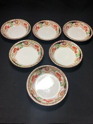 Antique Royal Staffordshire Pottery Dessert Bowls - Red Renown • 7.99£