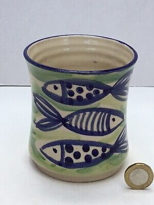 Lovely Crail Fish Mug Cup, Scotland Studio Pottery, Grieve, Signed & Marked, VGC • 14.50£