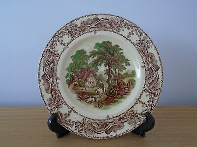 A J Wilkinson Ltd Royal Staffordshire Pottery RURAL SCENES 23cm Plate  • 3£