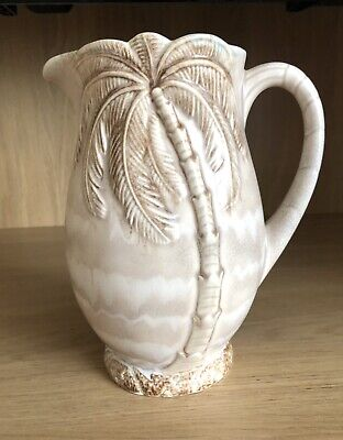 BESWICK WARE Vintage 1073 PALM TREE JUG 21cms High & Immaculate Condition • 14.99£