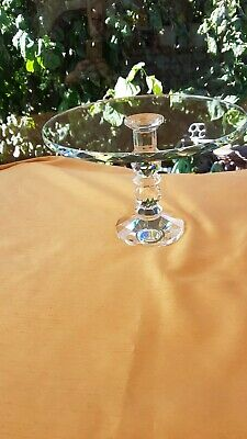 Stunning Cut Crystal Glass Cake Stand Brand New • 32£