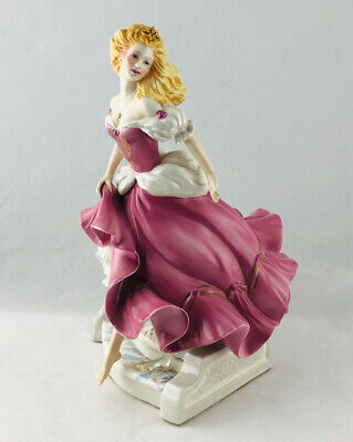 "Franklin Mint CINDERELLA Porcelain Figurine 10"" Tall - Perfect • 39.50£"