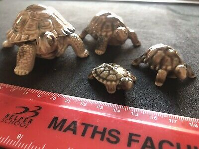 Wade Tortoise Collection Of 4 - 3 Trinket Boxes • 3.50£